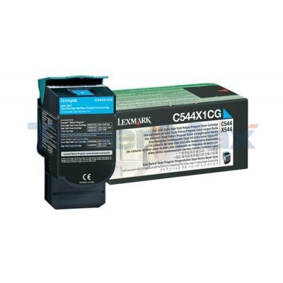 LEXMARK C544 X544 TONER CARTRIDGE CYAN RP 4K